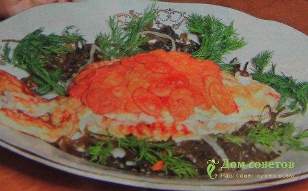 праздничные рыбные салаты фото
